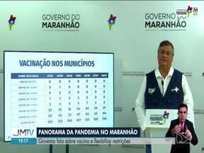 Covid-19 no MA: governo fala sobre vacina e flexibiliza restrições - Governador do Maranhão fez um panorama da pandemia de Covid-19 no estado.