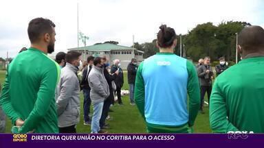 Diretoria do Coritiba quer união com elenco para conseguir o acesso pra Série A - Dirigentes visitaram a preparação para o jogo com o Vasco, visto como 'emblemático'