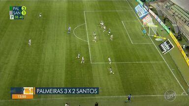 Palmeiras vence Santos, São Paulo conquista segunda vitória e Corinthians amarga derrota - Veja os principais lances das partidas.