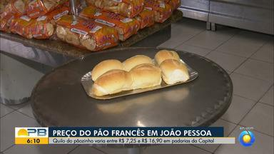 A diferença no preço do quilo do pão francês pode variar quase dez reais, em joão pessoa - Veja como está a variação.