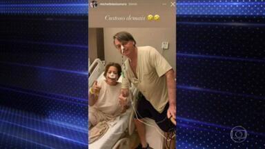Quadro de saúde de Bolsonaro evolui de forma satisfatória, mas ele segue sem previsão de alta - De acordo com a equipe médica, Bolsonaro segue evoluindo de forma satisfatória. Ele está internado em São Paulo por causa de uma obstrução intestinal.