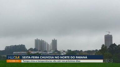 Sexta-feira (16) com céu nublado e chuva, em Londrina - Para o sábado (17), também há previsão de chuva na cidade.