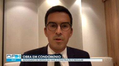 Advogado de morador do condomínio Solar Brasília fala sobre a obra - Segundo o advogado a obra é regular porque o terreno é privado e não área comum como defendem os moradores.