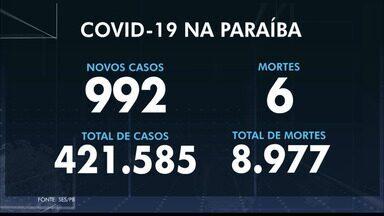 Paraíba registra seis mortes por Covid-19 nesta sexta-feira (30) - Foram 992 novos casos positivos.