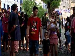 Aglomeração é flagrada no Centro Histórico da capital - Flagrantes de desrespeito as medidas de prevenção do novo coronavírus continuaram no domingo em São Luís.