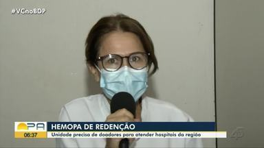 Em Redenção, Hemopa precisa de doadores para atender hospitais da região - Em Redenção, Hemopa precisa de doadores para atender hospitais da região.