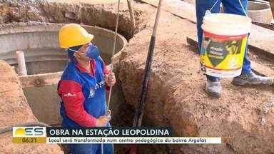 Estação Leopoldina, em Vila Velha, será transformada em centro pedagógico - Veja a seguir.