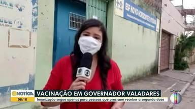 Em Valadares, imunização contra a Covid segue apenas para aplicação de 2ª dose - Saiba mais.