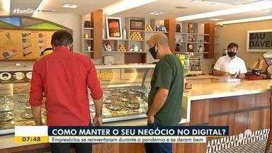 Empresários que fecharam as portas na pandemia encontram alternativa no mercado digital - Saiba mais em: g1.com.br/ce