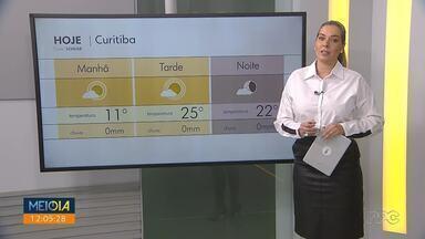 Semana começa com tempo firme em todo o Paraná - O sol aparece entre poucas nuvens e as temperaturas conseguem subir.