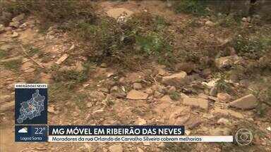 MG Móvel em Ribeirão das Neves: rua Orlando de Carvalho Silveira continua precária - Moradores aguardam obras da rede de drenagem e pavimentação.