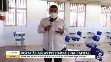 Volta às aulas na capital; equipe mostra escola preparada para receber alunos - João Bento da Costa se adaptou para volta Às aulas presenciais.