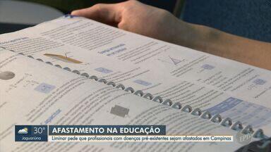 Liminar afasta servidores da Educação de Campinas com comorbidades e sem 2ª dose da vacina - Pedido foi feito à Justiça pelo MPT no fim de julho.