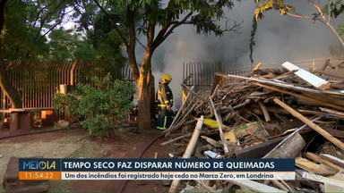 Incêndio atinge Marco Zero de Londrina - Bombeiros suspeitam de incêndio criminoso. No final de semana, foram registrados quase 200 incêndios em todo o Estado.