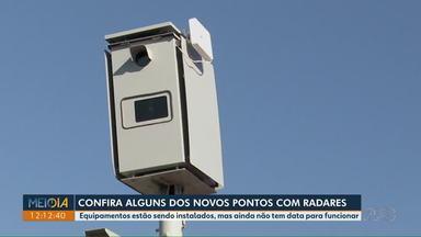Conheça alguns dos novos pontos com radares em Londrina - Equipamentos estão sendo instalados, mas ainda não tem data para funcionar.