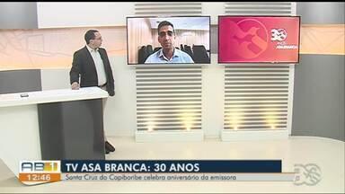 Prefeito de Santa Cruz do Capibaribe celebra aniversário da TV Asa Branca - Fábio Aragão fala da importância da emissora na região, ao longo desses 30 anos.