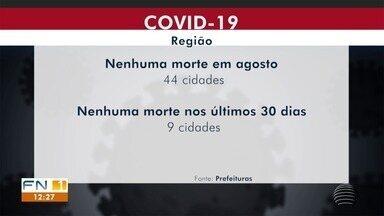Levantamento mostra queda do número de mortes por Covid-19 - Em 44 cidades não houve óbitos em agosto.
