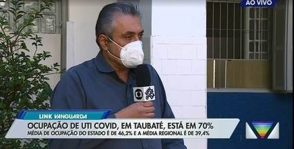 Ocupação de leitos UTI Covid em Taubaté está em 70% - Média de ocupação do estado é de 46,2% e a média regional é de 39,4%