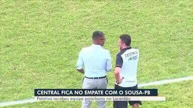 AB Esporte:Central enfrenta o Sousa do técnico Pedro Manta - Lafaete Vaz fala sobre a classificação deste fim de semana.