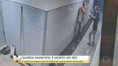 A polícia do Rio procura um homem que matou um guarda municipal dentro de um supermercado - O homem estava de folga e saía do banheiro do supermercado quando foi abordado. O estabelecimento disse que já forneceu as informações solicitadas pela polícia e se solidariza com a família.