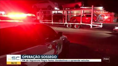 PM de Jaguaruna flagra festas clandestinas e apreende veículos - PM de Jaguaruna flagra festas clandestinas e apreende veículos