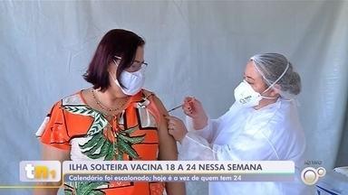 Ilha Solteira imuniza jovens de 18 a 24 anos em esquema escalonado - Ilha Solteira (SP) imuniza contra a Covid-19 os jovens de 18 a 24 anos em esquema escalonado para evitar aglomerações.