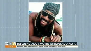 Influenciador digital de Teófilo Otoni morre atropelado no Rio de Janeiro - Marcus Revest tinha 36 anos.