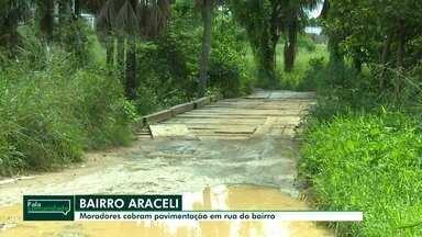 Fala Comunidade: Moradores cobram pavimentação em rua do bairro Araceli, em Boa Vista - Trecho fica quase intrafegável durante chuvas, conforme moradores.