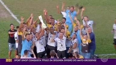 O Sport Sinop venceu o Academia de Rondonópolis e conquistou o título da Segunda Divisão - O Sport Sinop venceu o Academia de Rondonópolis e conquistou o título da Segunda Divisão.