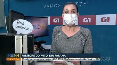 Mensagens: Telespectadores participam do Meio-Dia Paraná desta segunda-feira (9) - Participe pelo telefone (42) 99974-0062 ou pelo aplicativo Você na RPC!