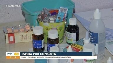 Idosa com tumor aguarda por consulta com especialista em Campo Grande - Lurdes, de 66 anos, aguarda por atendimento no SUS