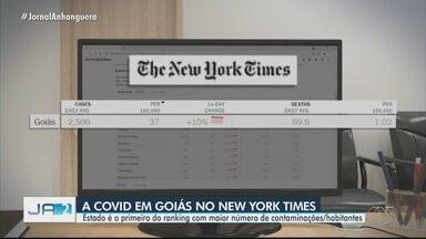 Goiás aparece no New York Times como o 1º do ranking com maior número de Covid-19 - Estado é o primeiro do ranking com maior número de contaminações/habitantes.