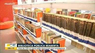 Biblioteca Pública do Ceará é reaberta após reforma - Saiba mais em: g1.com.br/ce