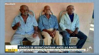 Após 64 anos, irmãos se reencontram no Cariri - Saiba mais em: g1.com.br/ce