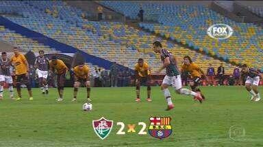 Veja os gols das quartas de final da Libertadores e Sul-Americana - Fluminense empatou com o Barcelona de Guayaquil. Santos venceu o Libertad.