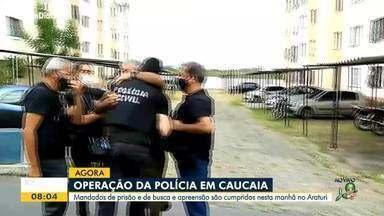 Polícia cumpre mandados de prisão e de busca e apreensão em Araturi - Saiba mais em: g1.com.br/ce