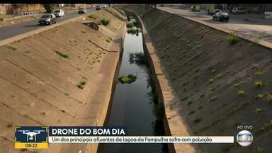 Córrego Ressaca recebe esgoto sem tratamento em regiões de Belo Horizonte - Córrego é um dos principais afluentes da lagoa da Pampulha.