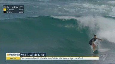 Deivid Silva elimina Gabriel Medina e vai para semifinal do Mundial de Surfe - Guarujaense de 26 anos venceu disputa na etapa de México.