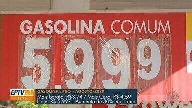 Litro da gasolina chega a R$ 6 em posto de Ribeirão Preto, SP - É o maior preço do combustível na cidade.