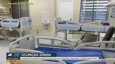 Hospital Universitário de Rio Grande não tem pacientes internado na enfermaria Covid - Média móvel de óbitos é a menor em quase 9 meses no Rio Grande do Sul.