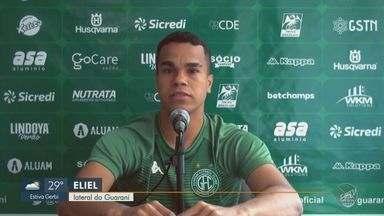 Eliel substitui Bidu no Guarani para a partida contra o Goiás - Bugre entra em campo com três desfalques no elenco.