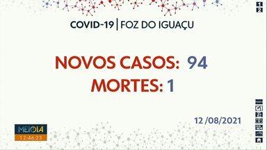 Foz registra 94 novos casos de Covid-19 - Boletim foi divulgado na quinta (12).