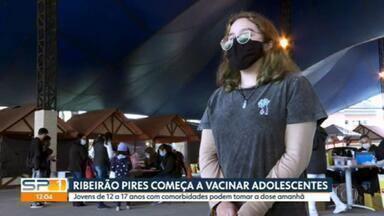 Ribeirão Pires começa a vacinar adolescentes - Jovens de 12 a 17 anos com comorbidades podem tomar a dose amanhã