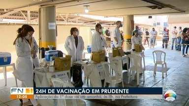 Vacina Fest é realizado no estacionamento do prédio da Prefeitura - Evento começou às 8h desta sexta-feira (13), em Presidente Prudente.