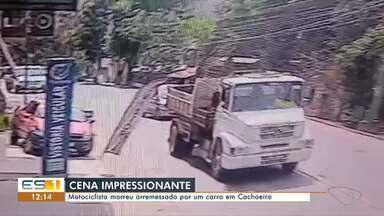 Motociclista morre após arremessado por carro em Cachoeiro de Itapemirim - Assista.