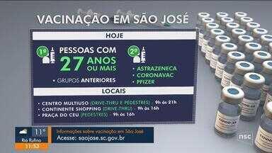 Confira o cronograma de vacinação contra a Covid-19 na Grande Florianópolis - Confira o cronograma de vacinação contra a Covid-19 na Grande Florianópolis