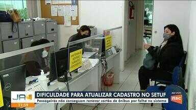 Passageiros não conseguem renovar cartão de ônibus em Florianópolis - Passageiros não conseguem renovar cartão de ônibus em Florianópolis