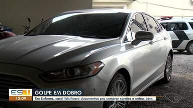 Polícia prende casal que aplicava golpes em Linhares - Assista.