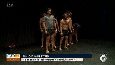 """Companhia 'Qualquer um dos 2' se apresenta no teatro Dona Amélia - O grupo traz o espetáculo """"Cavalo"""", que será exibido nesta sexta (13) e sábado (14)."""