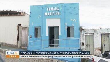 TRE-BA definiu data para eleições complementares em Firmino Alves, no sul da BA - No dia 3 de outubro serão definidos novos prefeito e vice-prefeito.